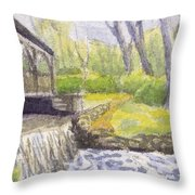 Beside The Dam Throw Pillow