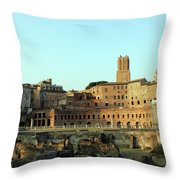 Beside The Road Throw Pillow