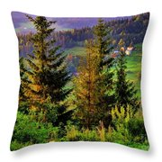 Beskidy Mountains Throw Pillow