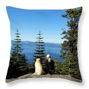 Best Buddies At Lake Tahoe Throw Pillow
