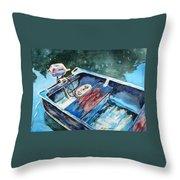 Best Fishing Buddy Throw Pillow