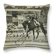 Best Friend Quote Throw Pillow