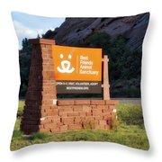 Best Friends Animal Sanctuary Angel Canyon Knob Utah Signage 01 Throw Pillow
