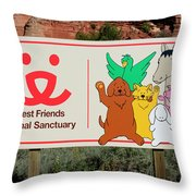 Best Friends Animal Sanctuary Angel Canyon Knob Utah Signage 03 Throw Pillow