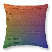 Best Guitarists Typography Throw Pillow
