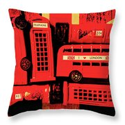Best Of Britain Throw Pillow