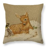 Best Of Friends Throw Pillow by Ginny Youngblood