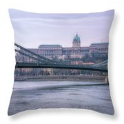 Best View Of Buda Castle Throw Pillow
