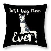 Bestdogmomever Husky Throw Pillow