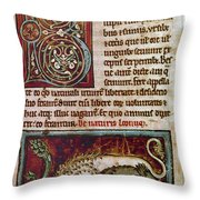 Bestiary: Lion Throw Pillow