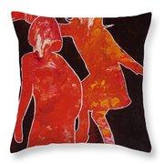 Besties - Dancing Throw Pillow