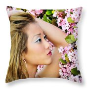 Resting Bloom Throw Pillow