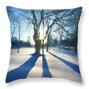 Bet On The Blues Throw Pillow