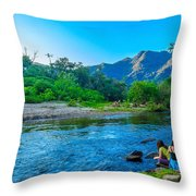 Betari River-1 Throw Pillow by Fabio Giannini