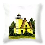 Bete Gris Lighthouse Throw Pillow