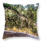 Bethany Cemetery Oaks And Tidal Creek Throw Pillow