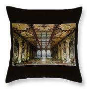 Bethesda Terrace Arcade 3 Throw Pillow