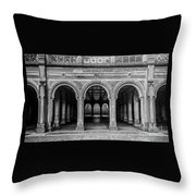 Bethesda Terrace Arcade 4 - Bw Throw Pillow