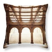 Bethesda Terrace In Color Throw Pillow
