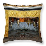 Bethlehem - Grotto Silver Star Throw Pillow
