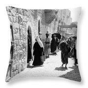 Bethlehem - Hard Working Woman Throw Pillow