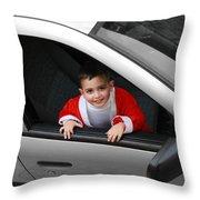Bethlehem - Little Child During Christmas Festival Throw Pillow