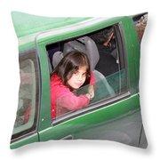 Bethlehem - Little Girl Of Bethlehem Throw Pillow