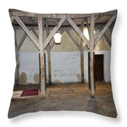 Bethlehem - Main Entrance To Nativity Church Throw Pillow