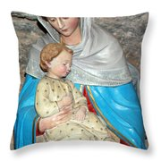Bethlehem - Milk Grotto Church  Throw Pillow