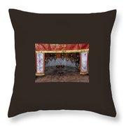 Bethlehem - Nativity Church - Silver Star Throw Pillow