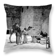 Bethlehem - Nativity Church 1920s Throw Pillow