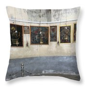 Bethlehem - Nativity Church Paintings Throw Pillow