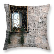 Bethlehem - Nativity Church Window Throw Pillow