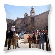Bethlehem - Nativity Square Demonstration Throw Pillow