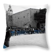 Bethlehem - Nativity Square Throw Pillow