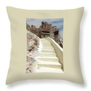 Bethlehem - The Way To Mar Saba Monstary Throw Pillow