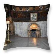 Bethlehem - Woman During Pray Throw Pillow