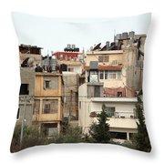 Bethlehem Camp Throw Pillow