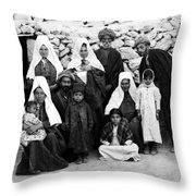 Bethlehem Family In 1900s Throw Pillow