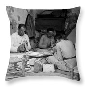 Bethlehem Mother Of Pearl Workers 1934 Throw Pillow