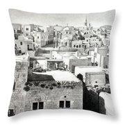 Bethlehem Old Town Throw Pillow by Munir Alawi