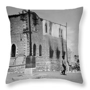 Bethlehem Police Barracks Burned Down On 1938 Throw Pillow