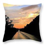 Bethlehem Road Sunset Throw Pillow