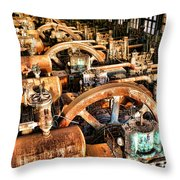 Bethlehem Steel Blower House Throw Pillow