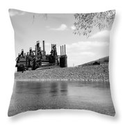 Bethlehem Steel Throw Pillow by Michael Dorn