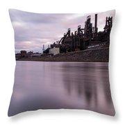 Bethlehem Steel Sunset Throw Pillow