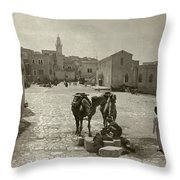 Bethlehem: Street, C1911 Throw Pillow