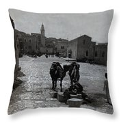 Bethlehem Street Scene 1911 Throw Pillow