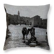 Bethlehem Street Scene 1911 Throw Pillow