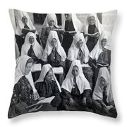 Bethlehem Women School 1900s Throw Pillow